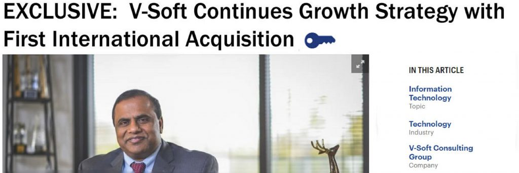 Article headline: V-Soft Continues Growth Strategy with First International Acquisition