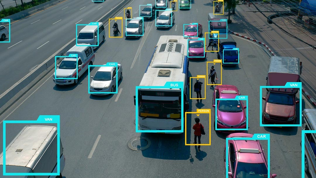 Artificial Intelligence Camera uses Image Processing to identify cars and humans on the road.