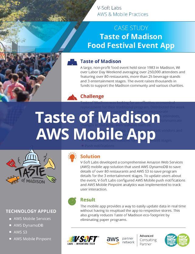 Taste of Madison AWS Mobile App